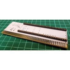 Amiga 2000 Copro Adapter - CPU Processor Relocator - precission round pin socket